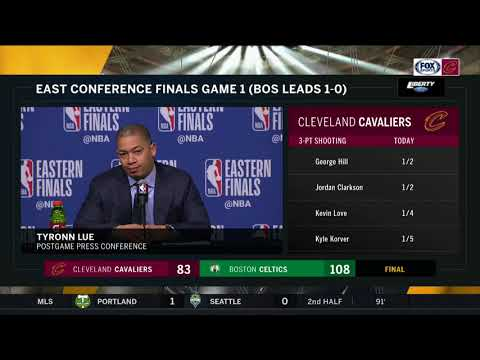 Tyronn Lue press conference after Cavs' Game 1 loss to Celtics | 2018 Eastern Conference Finals