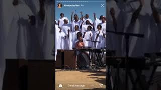 "Kanye West Sunday Service Perform ""Jesus Walks"" With North West"