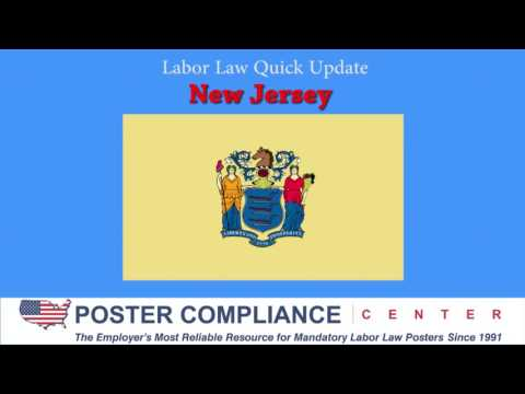 New Jersey Labor Law Poster Update