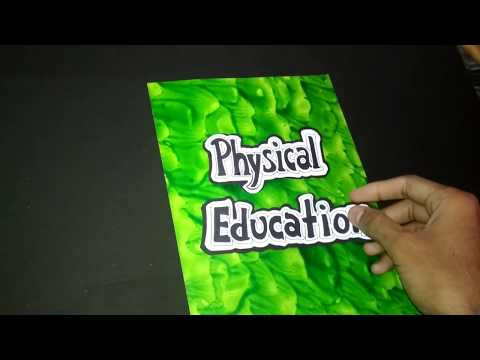 How to Decorate Physical Education File Cover