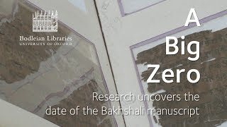 A Big Zero: Research uncovers the date of the Bakhshali manuscript thumbnail