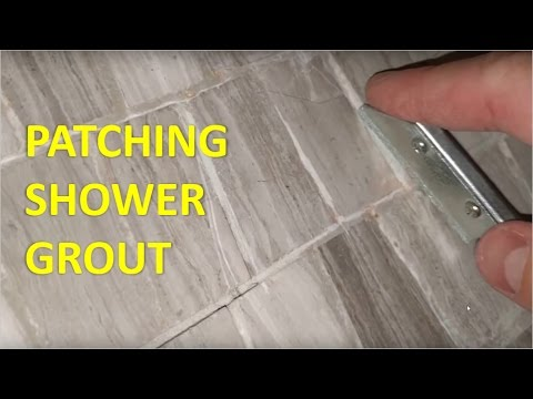 Regrouting A Shower Floor