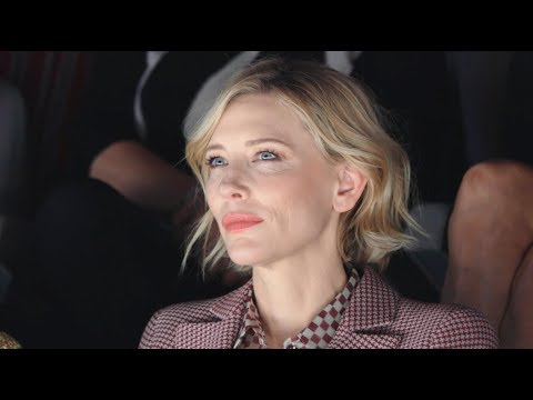 Cate Blanchett at the Giorgio Armani Spring Summer 2018 women's fashion show