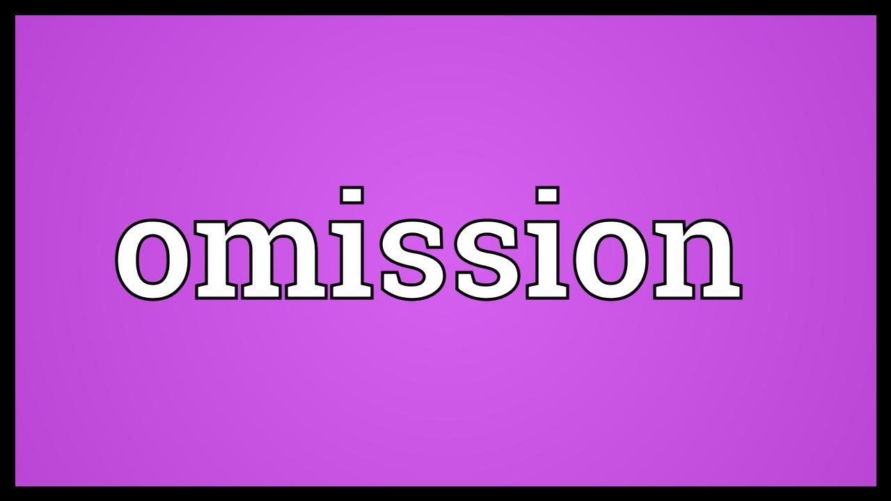 definition of error of commission