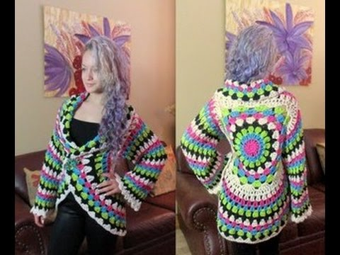 Crochet circular cardigan - with Ruby Stedman - YouTube