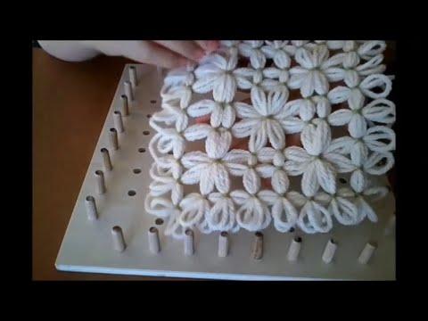 Piastrella con fiori tutorial ° parte telaio di maria gio youtube