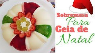 Sobremesa de Gelatina Para Ceia de Natal
