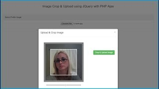 Image Crop and Uploading using JQuery with PHP Ajax