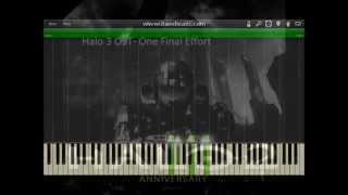 Halo 3 - OST One Final Effort tutorial (Synthesia)