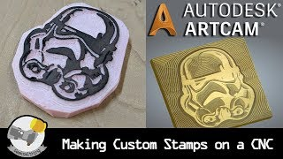 Stamp Making with a CNC using ArtCAM // TUTORIAL