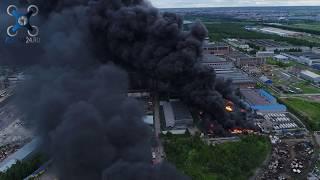 Пожар в промзоне Металострой Колпино Санкт-Петербург, горел завод лаки-краски