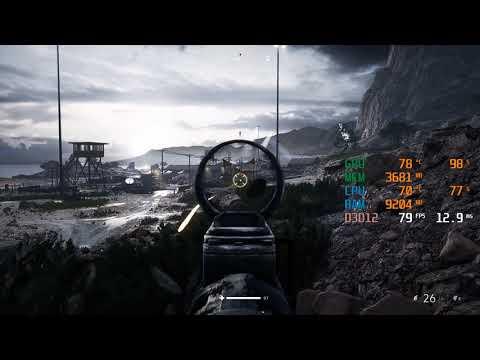 GTX 1650 SUPER + I3 9100F - Battlefield V / 5 - 1080p - All Settings Benchmark FPS Test