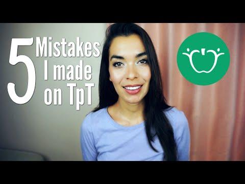 5 Mistakes I Made On Teachers Pay Teachers!!!