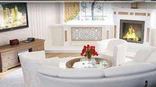 Living room with fireplace- Top 30 design ideas