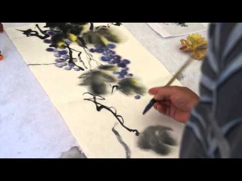 """As Branch in the Grapevine"" Chinese Brush Painting Workshop with Henry Li"