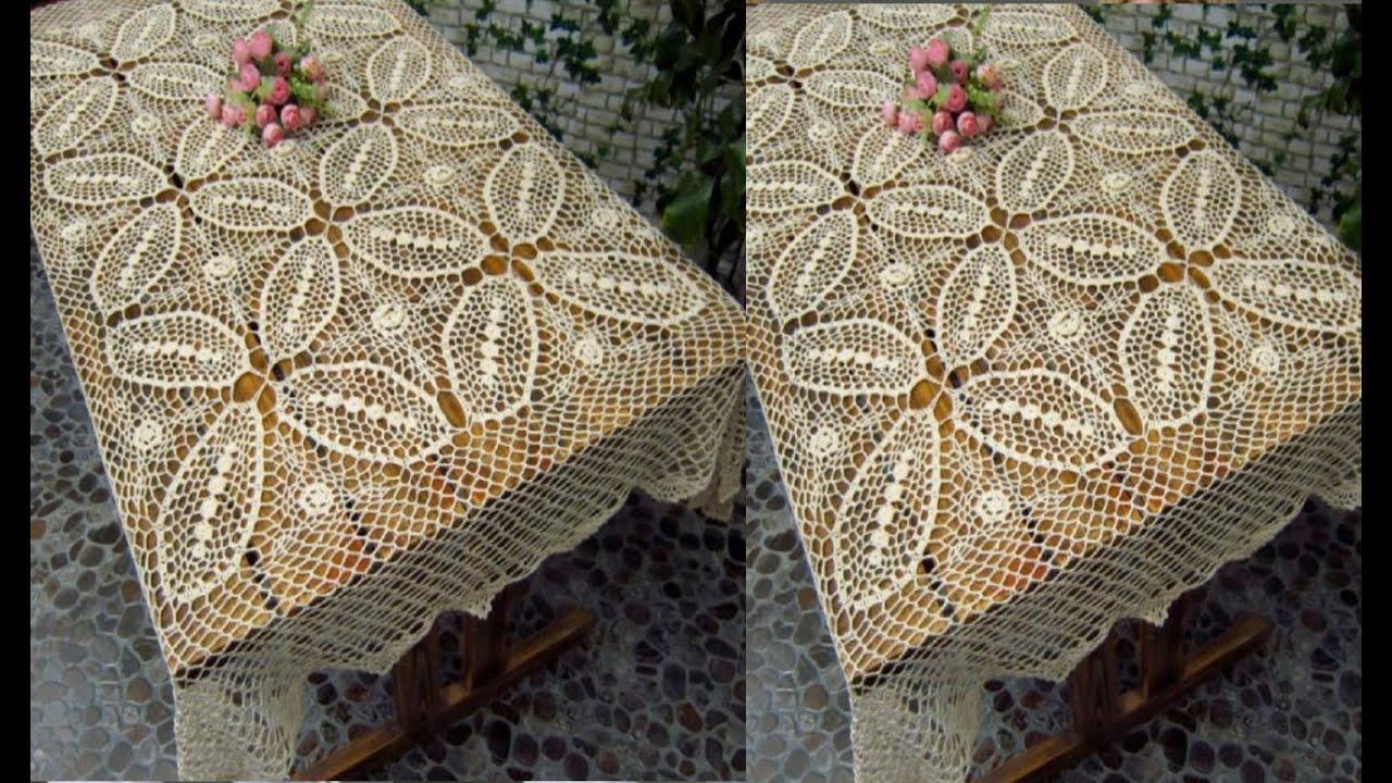 Para tu mesa lindos manteles tejidos a crochet youtube - Manteles para mesa ...