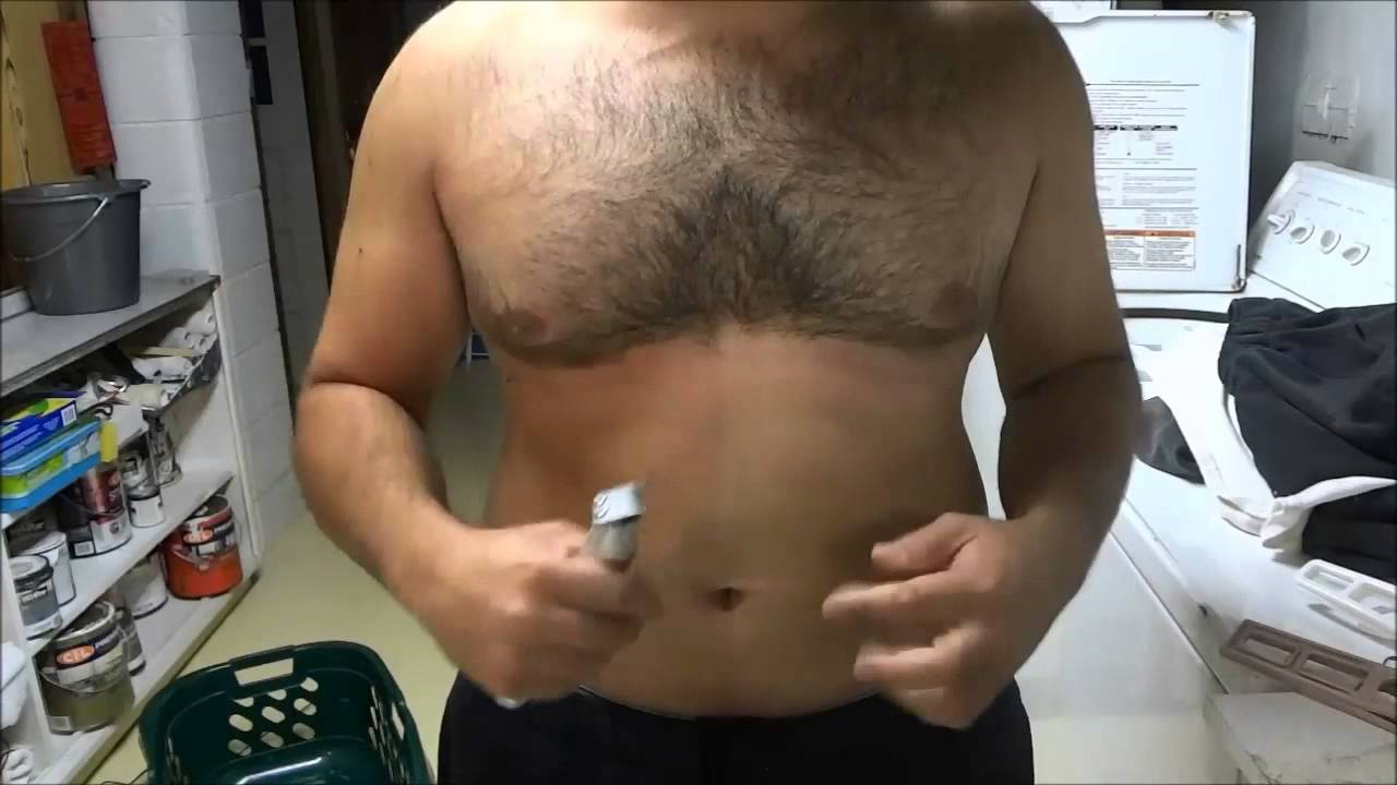 How to manscape chest and stomach