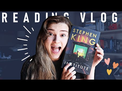 Reading The Institute by Stephen King ✨    Reading Vlog