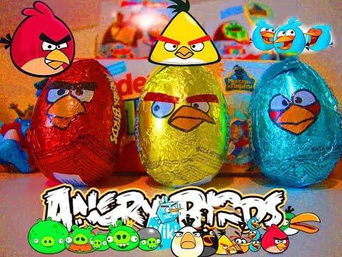 Киндер Сюрпризы Энгри Бердс,Unboxing Kinder Surprise Angry Birds игрушки Злые птички