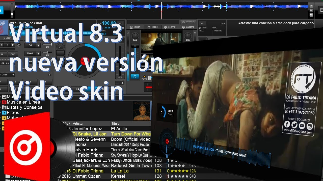 virtual dj 8 3 lo nuevo video skins