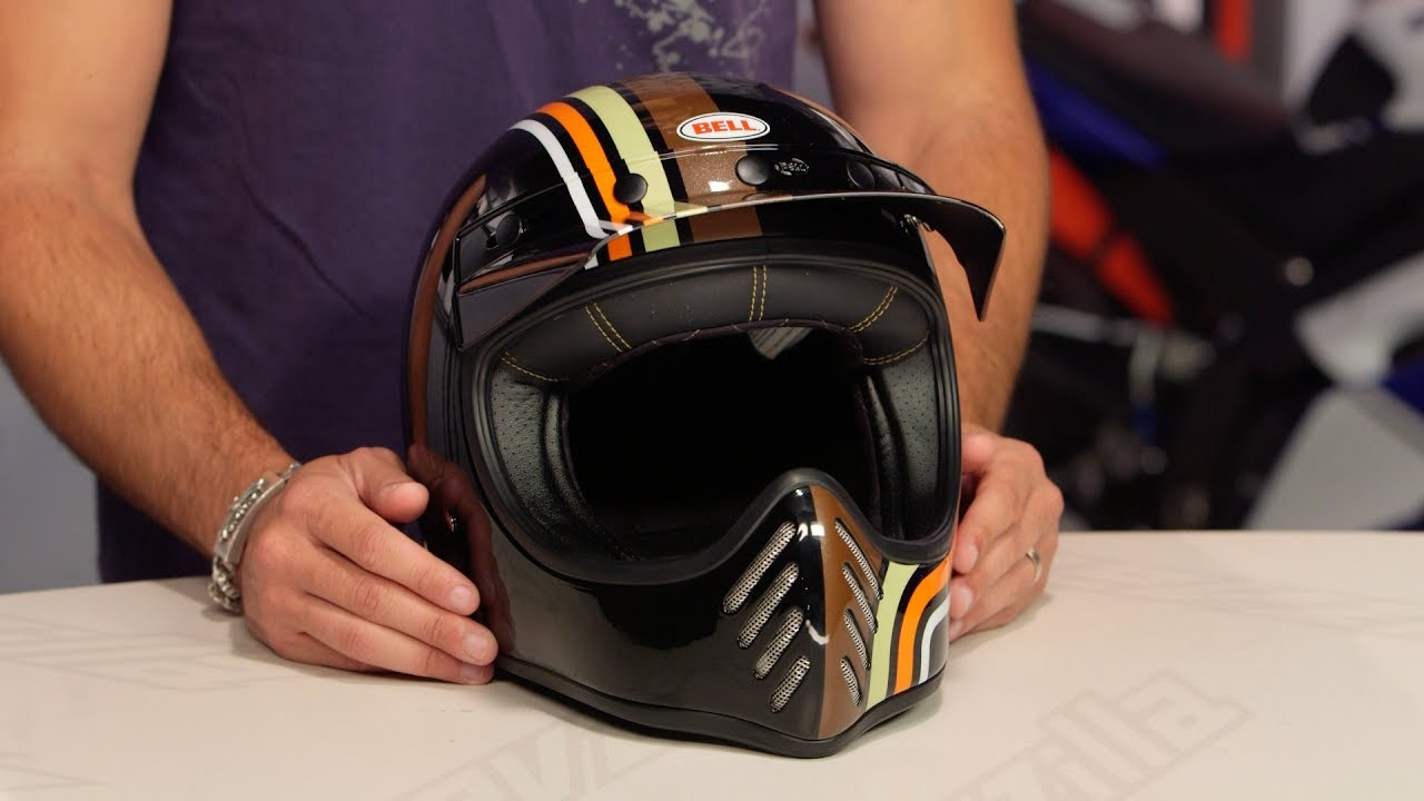 Bell Motorcycle Helmet >> Bell Moto-3 Stripes Helmet Review at RevZilla.com - YouTube