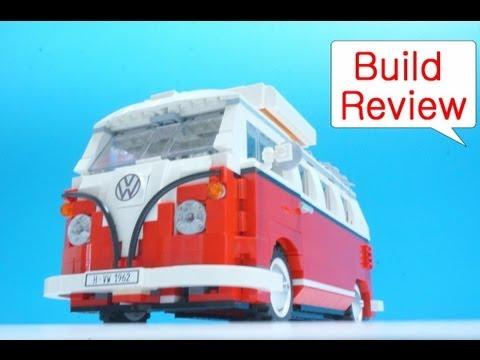 레고 캠퍼밴 Lego 10220 Volkswagen T1 Camper Van - Car Toys Build Review