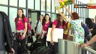 Женският национален отбор се завърна в България с титлата на Златната лига