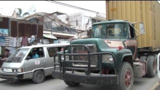 MACK trucks in Haiti