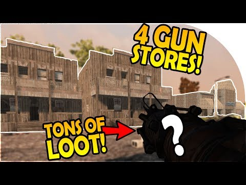 4 GUN STORES?! - TONS of WEAPONS and LOOT! - 7 Days to Die Alpha 16 Gameplay Part 7