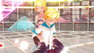 【MMD】Electric Angel  YYB Electric Angel Rin and Len  + DL 【1080p】
