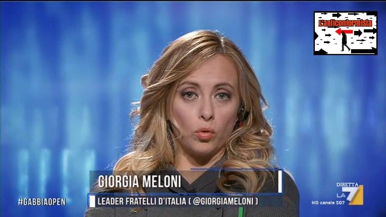 Giorgia meloni a lagabbiaopen su la7 youtube for Meloni arredamenti oristano
