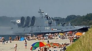 Russian Landing Ship Zubr scared tourists.