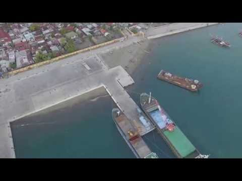 Aerial view of New San Jose Seaport in Caminawit