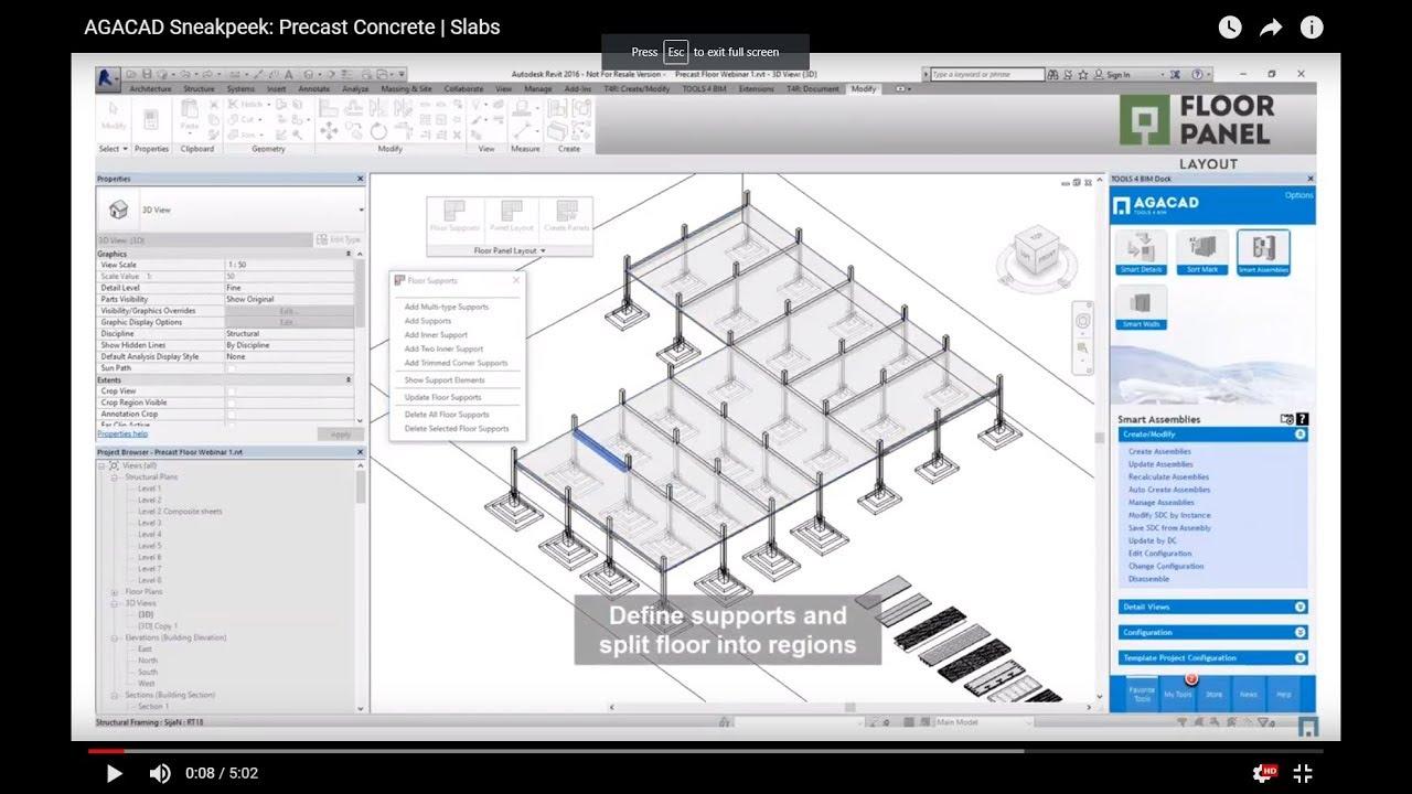 Modeling Precast Concrete Slabs in Revit (Sneakpeek)