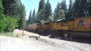 (HD) A Great Weekend of Railfanning on Donner Pass: Reefer, Coal Train, Rail Train, and More!