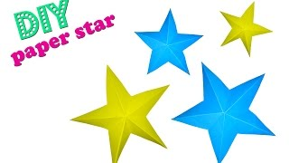 How to make diy paper 3D star | DIY Paper Craft Tutorial for Christmas