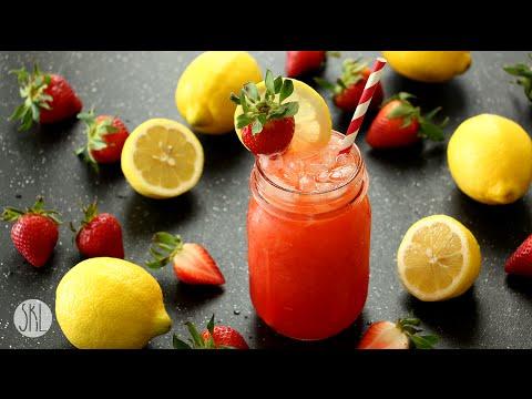 1 Minute Recipe | Strawberry Lemonade