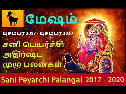Mesham Rasi - Sani Peyarchi Palangal 2017-2020
