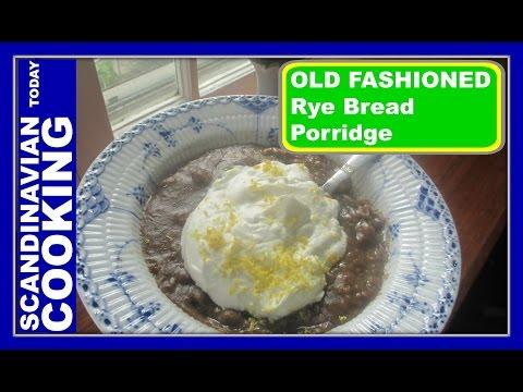 How To Make Old Fashion Rye Bread Porridge with Whipped Cream – Øllebrød med flødeskum