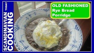 Øllebrød Med Flødeskum - An Old Fashion Rye Bread Porridge With Whipped Cream