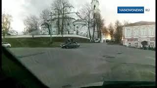 Прокатились на крыше автомобиля
