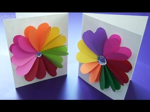 DIY Easy Handmade Greeting Cards - How to Make Paper Cards - 동영상