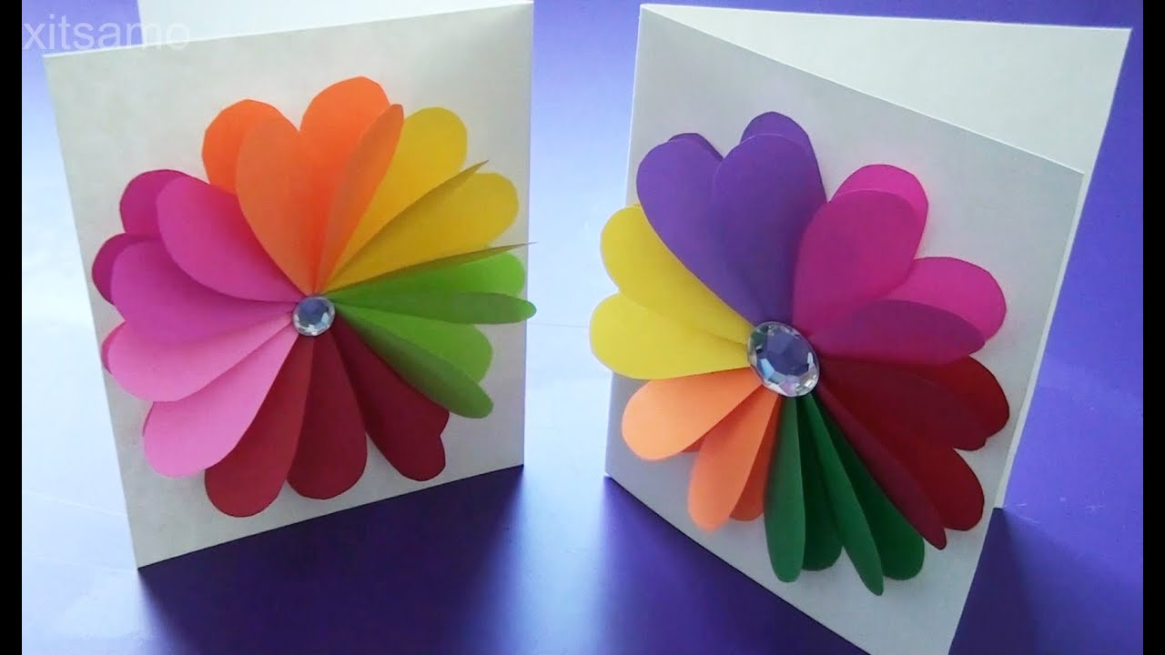 Diy easy handmade greeting cards how to make paper cards youtube m4hsunfo