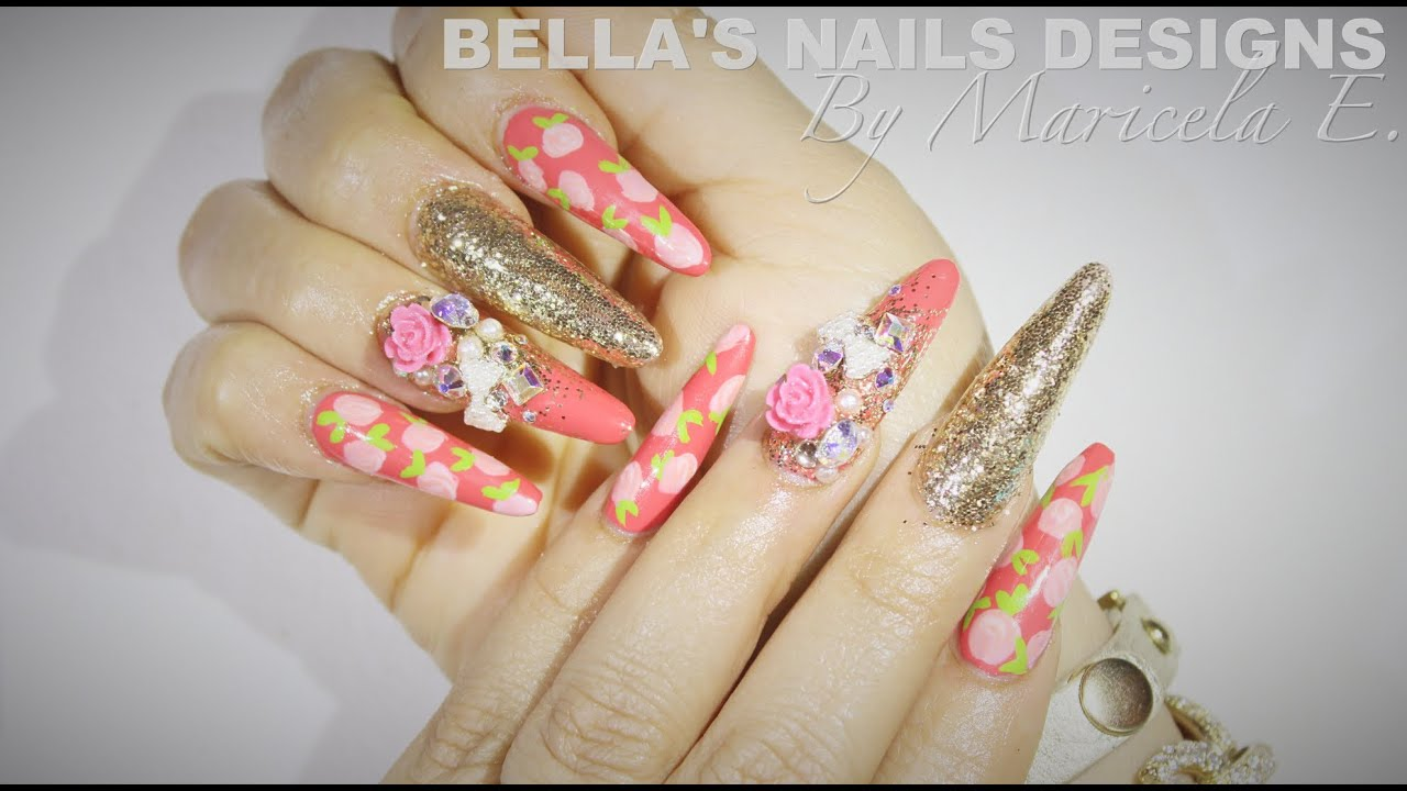 HOW TO:Japanese Deco Nails 💅🎀 かわいい爪 - 귀여운 손톱 - YouTube