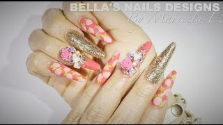 HOW TO:Japanese Deco Nails 💅🎀  かわいい爪 - 귀여운 손톱