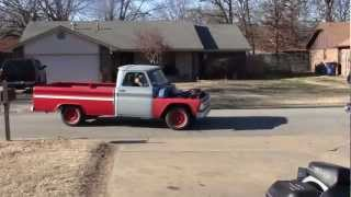 """1966 chevy C-10 restoration project, fresh 283, 2.5"""" flowmaster exhaust, first drive, part 1"""