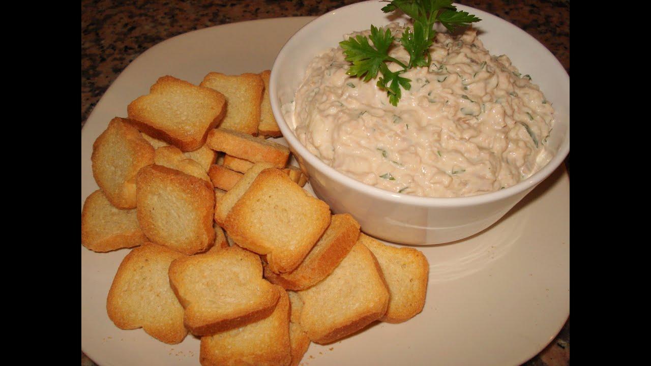 Receitas para emagrecer pasta de atum youtube for Canapes simples e barato