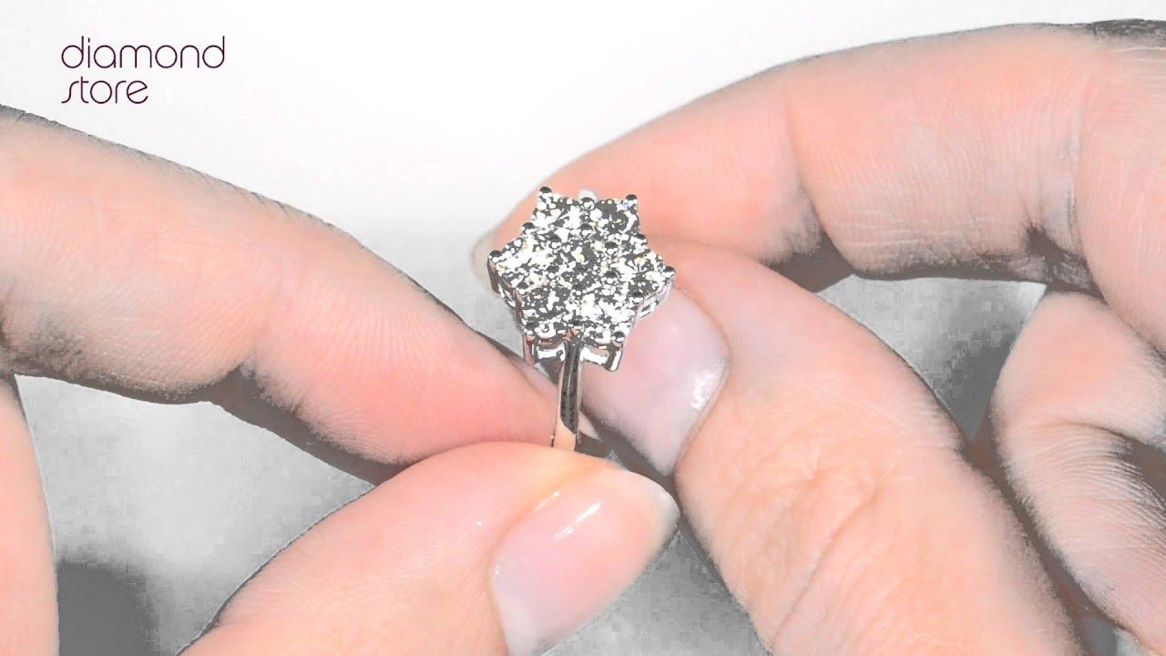 FT20 322 - Millie Diamond Cluster Ring - YouTube