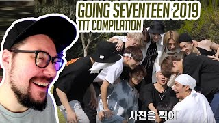 Mikey Reacts to GOING SEVENTEEN 2019 TTT Compilation
