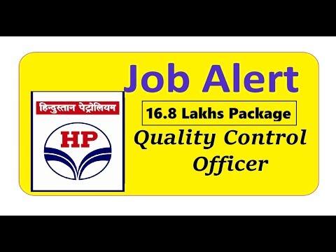 Job Alert II HPCL Job Notification II Quality Control Officer II PSU JOB